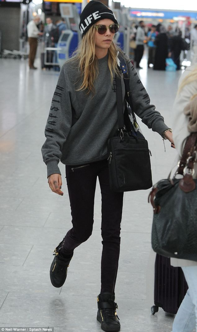 I'm no Cara Delevingne, but if I could wear this outfit most days..that would make me happy.