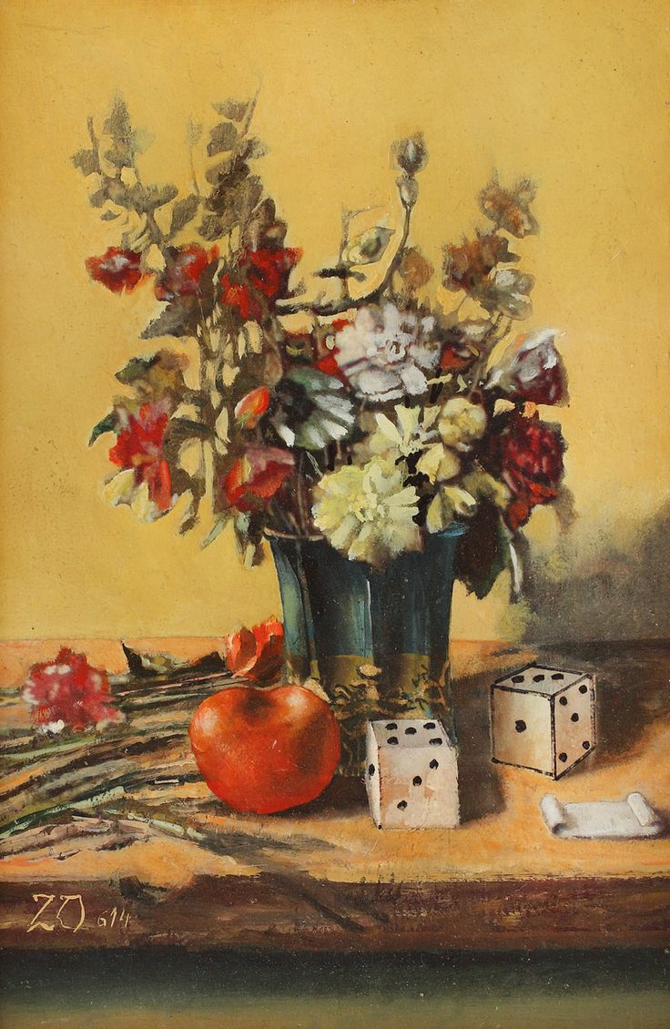 ZAMFIR DUMITRESCU, Dice and flowers, http://lavacow.com/current-auctions/contemporary-east-lavacow-auction/dice-and-flowers.html