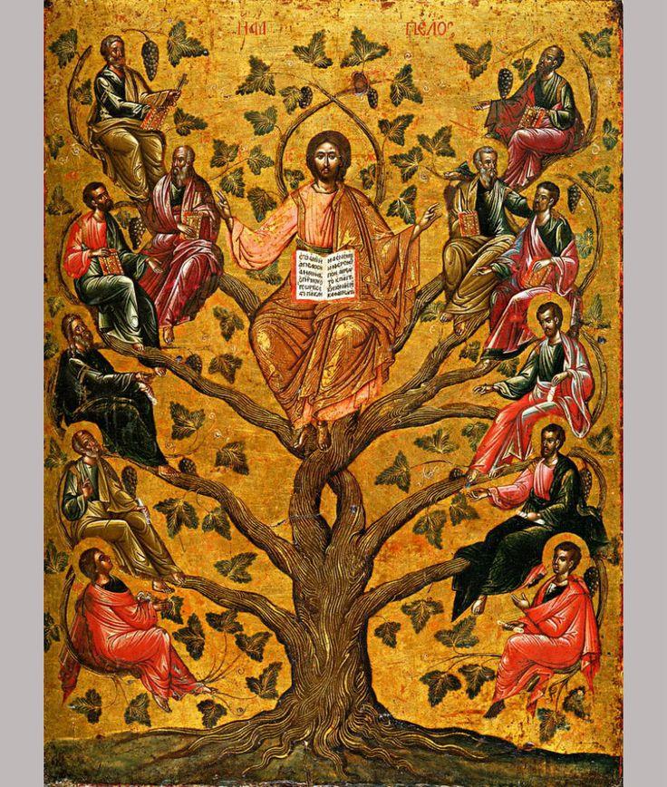 Православная иконография Иисуса Христа. Спас Лоза Истинная (Виноградная лоза)