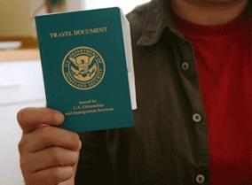 Form I-131 should be filed for advance parole.     Generally, if you are seeking immigrant status like a green card, it is important to have all the documents in order, especially if you are going to travel abroad, before getting the green card on hand. If that is the case, one has to apply for a reentry permit, refugee travel document or advance parole travel document. If the application for advance parole is accepted, you may be able to travel and enter the U.S.
