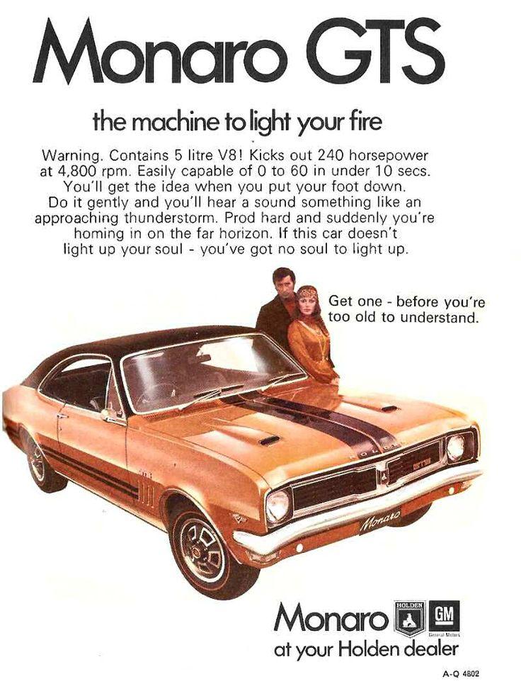 Monaro GTS 1970s advertisement
