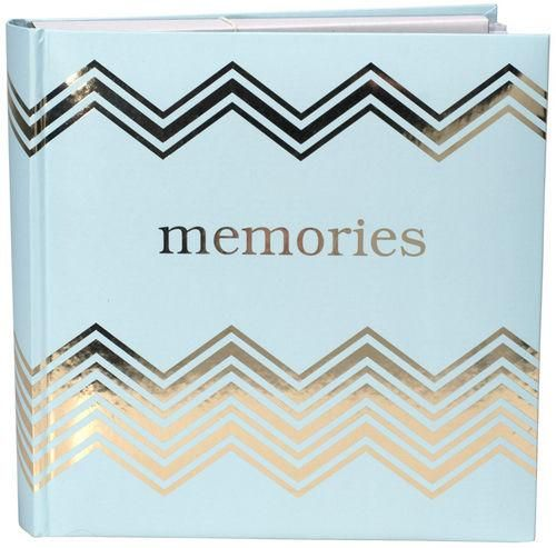 4x6 Photo Album Memories Gold & Teal, Holds 160 Pictures