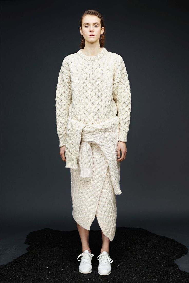 35 New Fashion Ideas That Might Change Everything #refinery29  http://www.refinery29.com/pre-fall-fashion-ideas#slide-17  Use your sweaters to create a sweater peplum for a sweater dress for a complete sweater moment.
