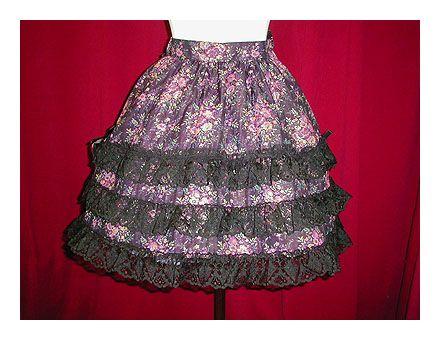 metamorphose temps de fille 三段レーススカート(ゴブラン織り)
