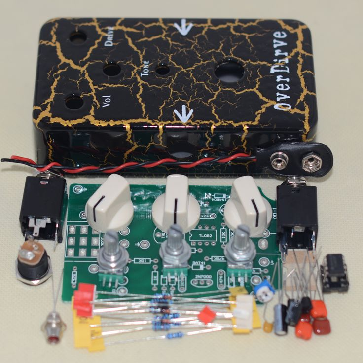 DIY overdrive pedal effects kit  true Bypass with 1590B aluminum enclosure black Lightning pedalboard kit   free shipping