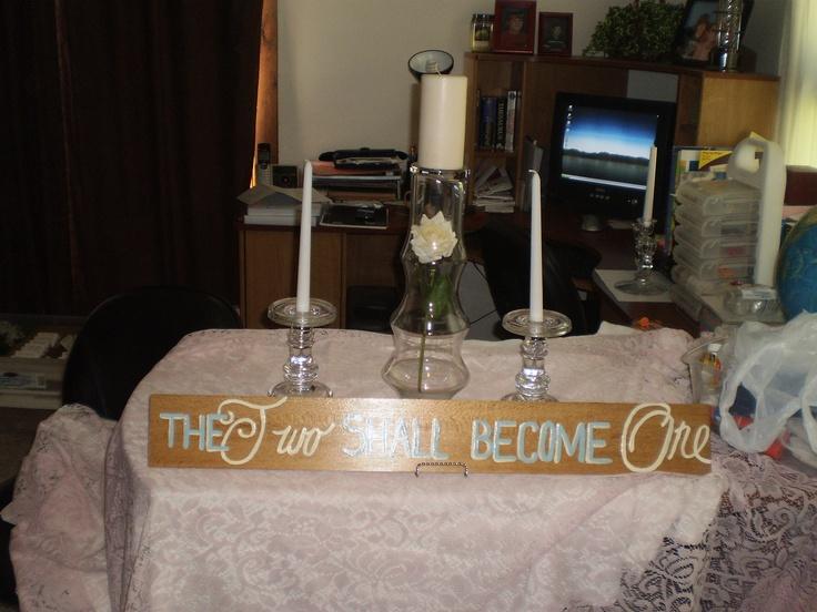My Unity Candle Table Set Up Wedding Ideas Pinterest