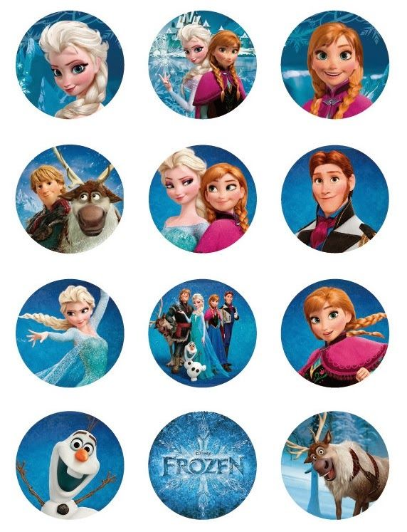 Frozen: Free Printable Toppers.  use these for name tags for Christmas