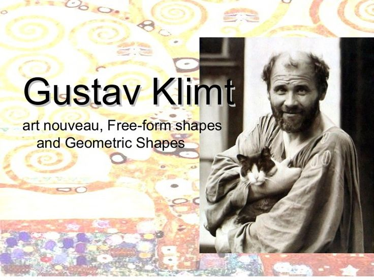 Power point on Gustav Klimt for middle school. Lesson on shapes and free form shapes, includes printable handouts