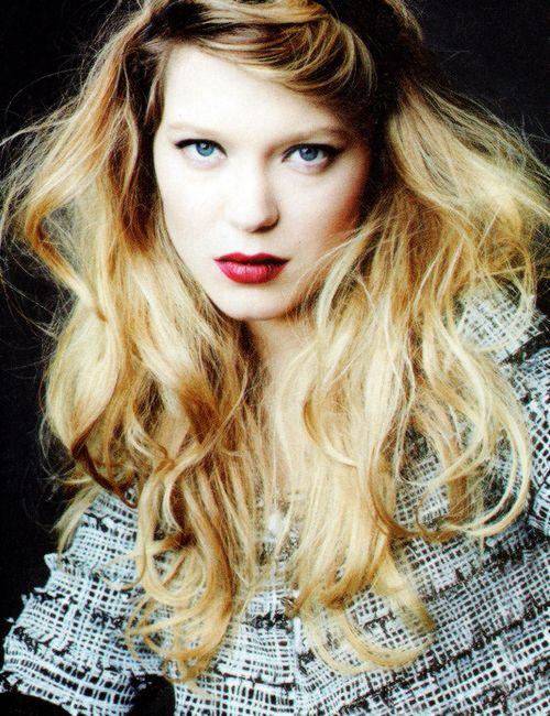 Lea Seydoux----hair!