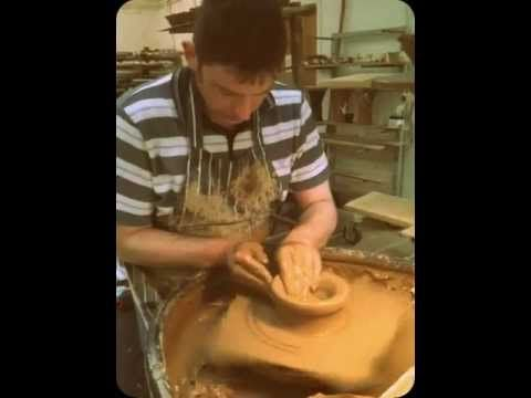 A bit of fun... Ron Barrett, our most skilled thrower (apart from from Stephen of course!) showing how to throw a Curly Bowl in less than 3 minutes.  This is just one of 18 hand processes every piece of pottery goes through before it serves its life as a beautiful addition to your home.