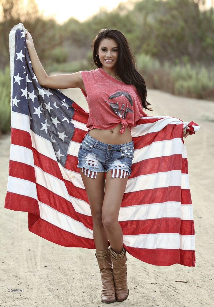 american flag and naked girls hot