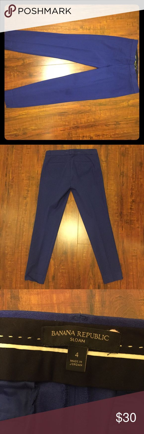 Banana Republic electric blue Sloan ankle pants Banana Republic electric blue Sloan ankle pants. Great stretch. Open to offers Banana Republic Pants Ankle & Cropped