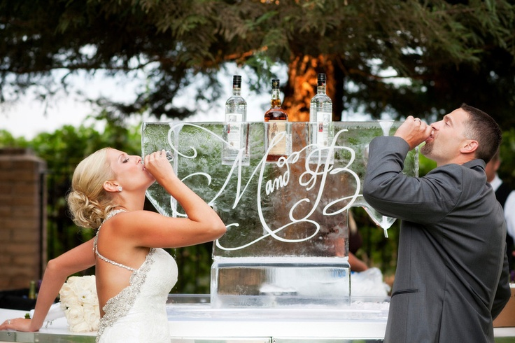 Awesome! Bride & Groom shots from ice luge. So Eventful {Wedding & Event Coordination}