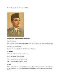 Anak Anak Malaysia Perdana Menteri Malaysia Tunku Abdul Rahman Malaysia Alor