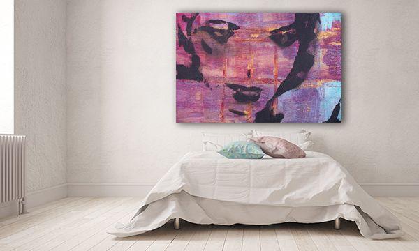 Πίνακας σε καμβά DigiWall ΤΕΧΝΗ : Γυναικείο πρόσωπο