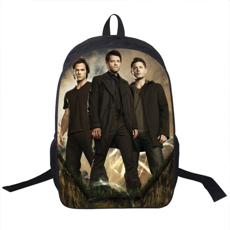 44.16$  Buy here - http://vixfx.justgood.pw/vig/item.php?t=744wojq55930 - Tv Show natural Backpack Sam Dean Castiel School Bags For Teenagers Men Women Da