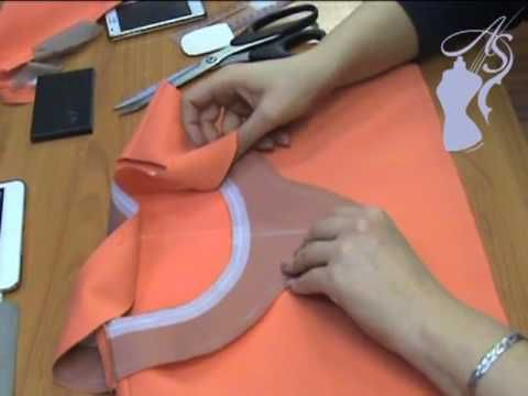 Обработка горловины притачной планкой. Ролик
