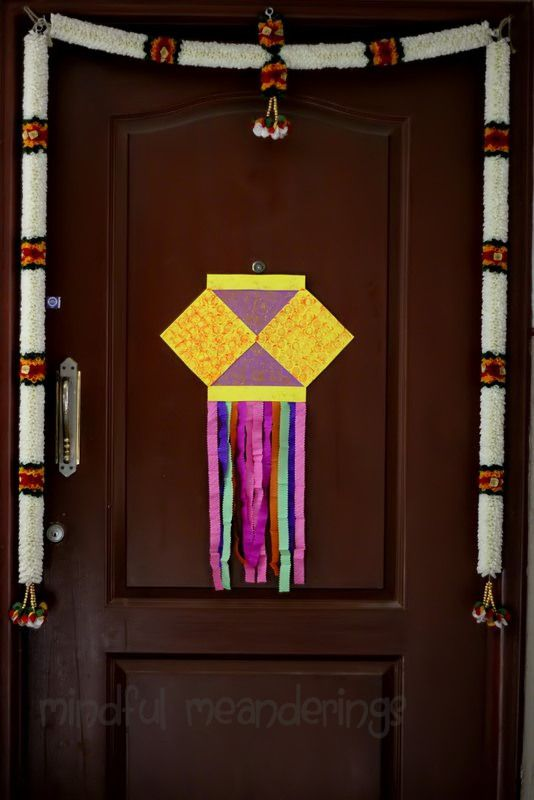 The kandil at the door diwali decorations diwali and for Indoor diwali decoration