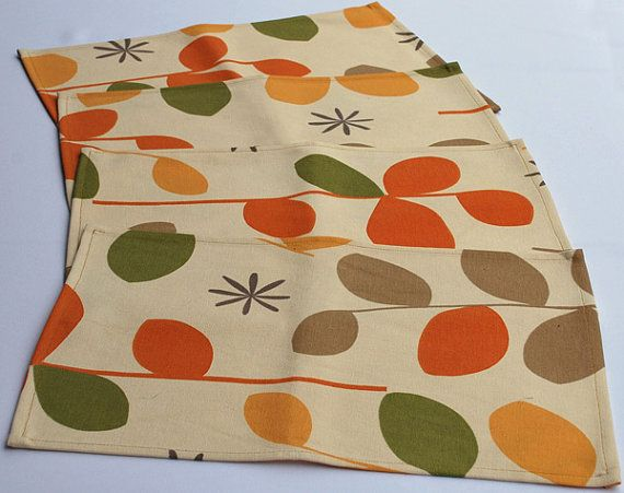 Set of 4 Fabric Placemats by RoslynONeil on Etsy, $10.00