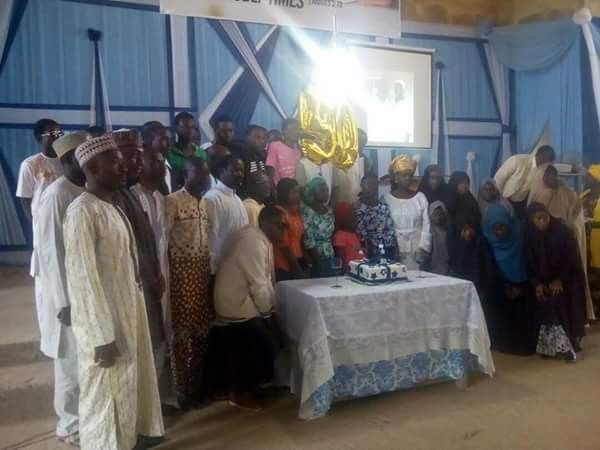 Shiite muslims attend ECWA Unity Church Jos to celebrate Rev. Asheshes 50th birthday and present him with an Ambassador of Peace award