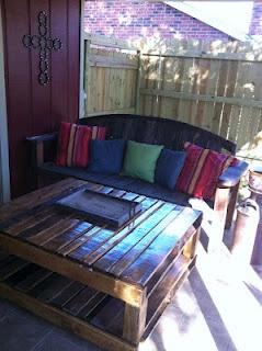 Mesa jardin palet