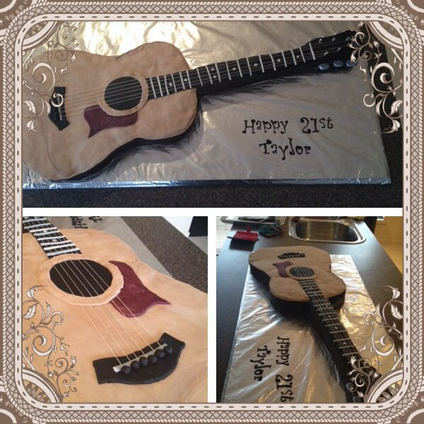 Guitar Cake I Made For Taylor Henderson