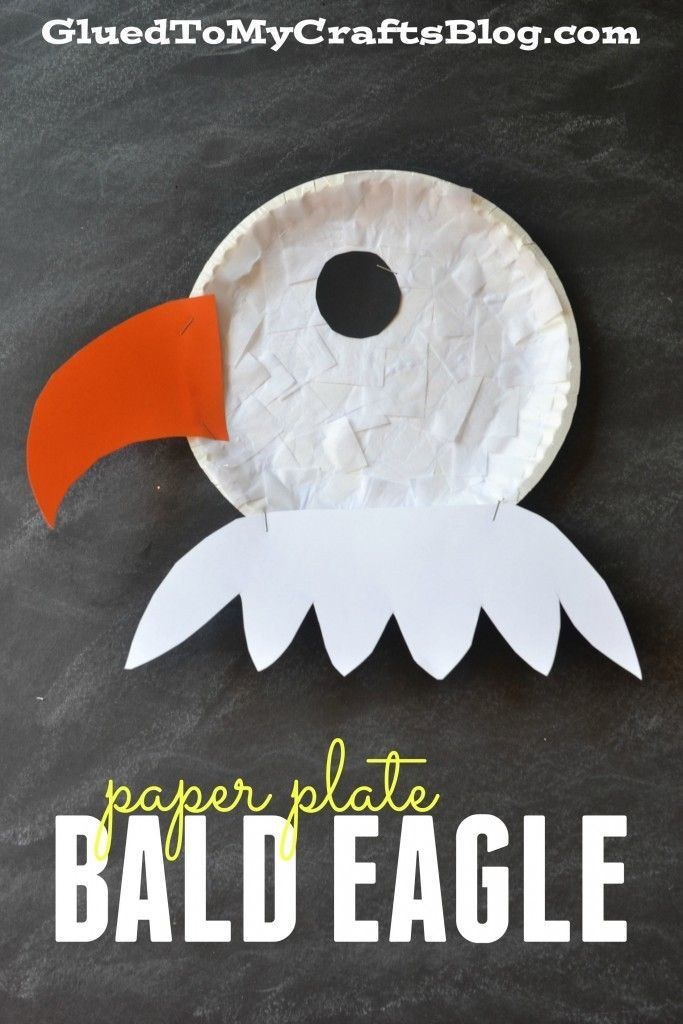 Paper Plate Bald Eagle {Kid Craft}                                                                                                                                                      More