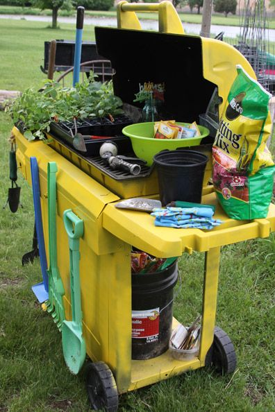 garden cart from an old grill