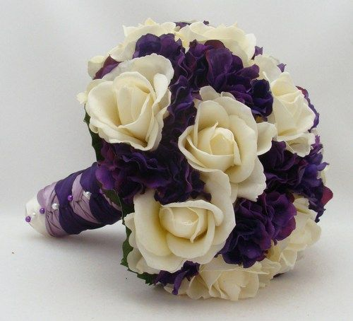 Lavender Rose Gypsophila Bridal Bouquet: Best 25+ Purple Hydrangea Bouquet Ideas On Pinterest