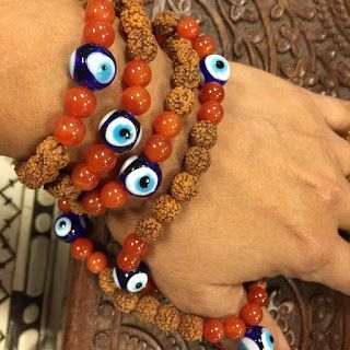 Indian Meditation Buddhist Yoga Mala: Rudraksha Mala Beads