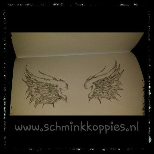 Wings drawed by Schminkkoppies