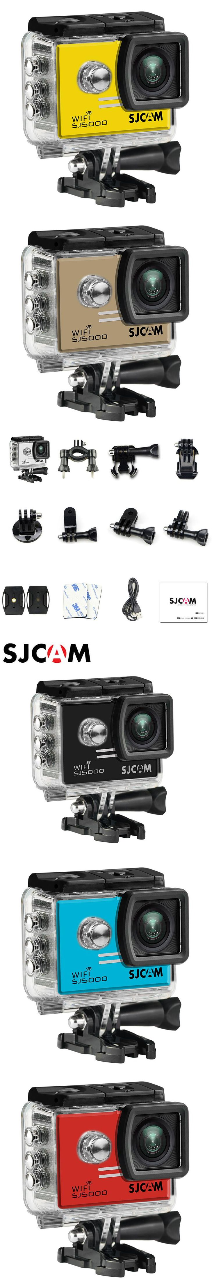 "SJCAM SJ5000 WiFi Action Camera Sports DV HD 1080P 30m Waterproof Original SJ 5000 Sport Cam 2"" inch Screen mini Camcorder"