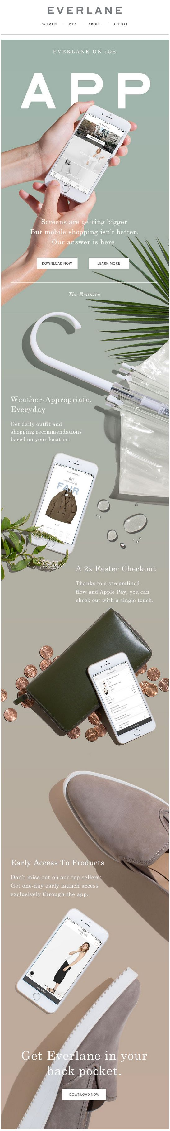 Everlane Introducing the Everlane App email