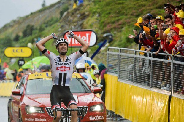 Stage 9. Vielha Val d'Aran to Andorre Arcalis. Tom Dumoulin the winner.