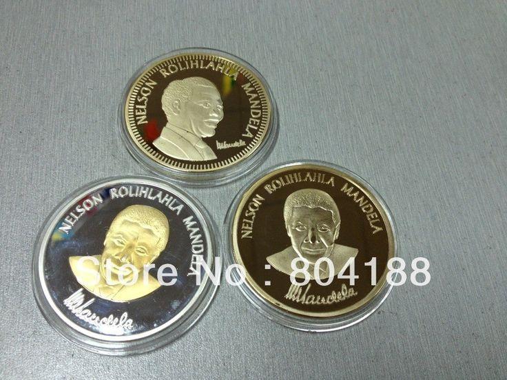 Смешать заказ! 500 шт./лот Express/DHL бесплатная доставка Нельсон Мандела Ролихлахла юго Afirca Золото одетые покрытием + серебро позолота