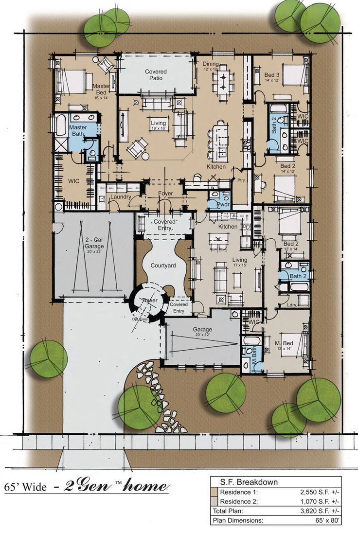 Best 25 courtyard house plans ideas on pinterest courtyard house house plans with courtyard - Best house plans for a family of four ...