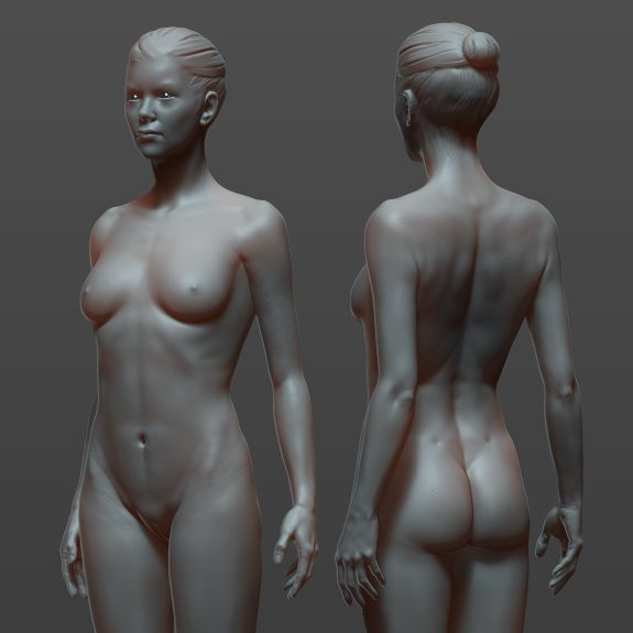 female body study www.samsimsom.com