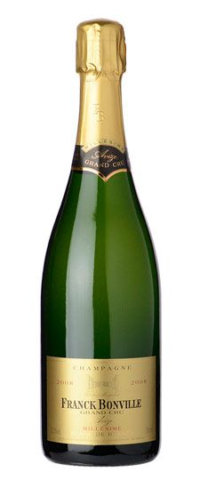 """2008 Franck Bonville """"Millesime"""" Brut Blanc de Blancs Champagne Aroma: buttery, toasty, floral Taste: big ripeness and extraordinary acidity Composed entirely from Grand Cru Chardonnay Great taste, will try again!"""
