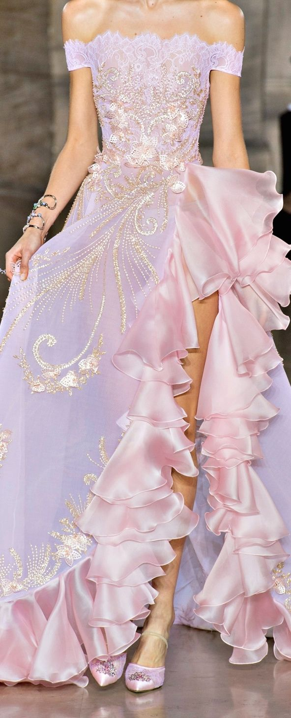 Georges Hobeika spring summer 2017...  OHH MY GOODNESS what a beautiful dress. I'd wear this everyday and twice on Sunday.