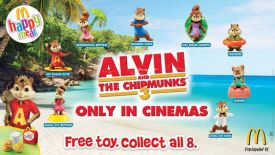 20th Century Fox Movies McDonald's Happy Meal Toys Alvin and The Chipmunks - Chipwrecked 3