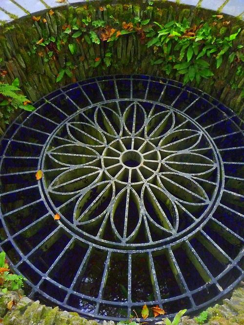 Gorgeous grate in The Lost Gardens of Heligan