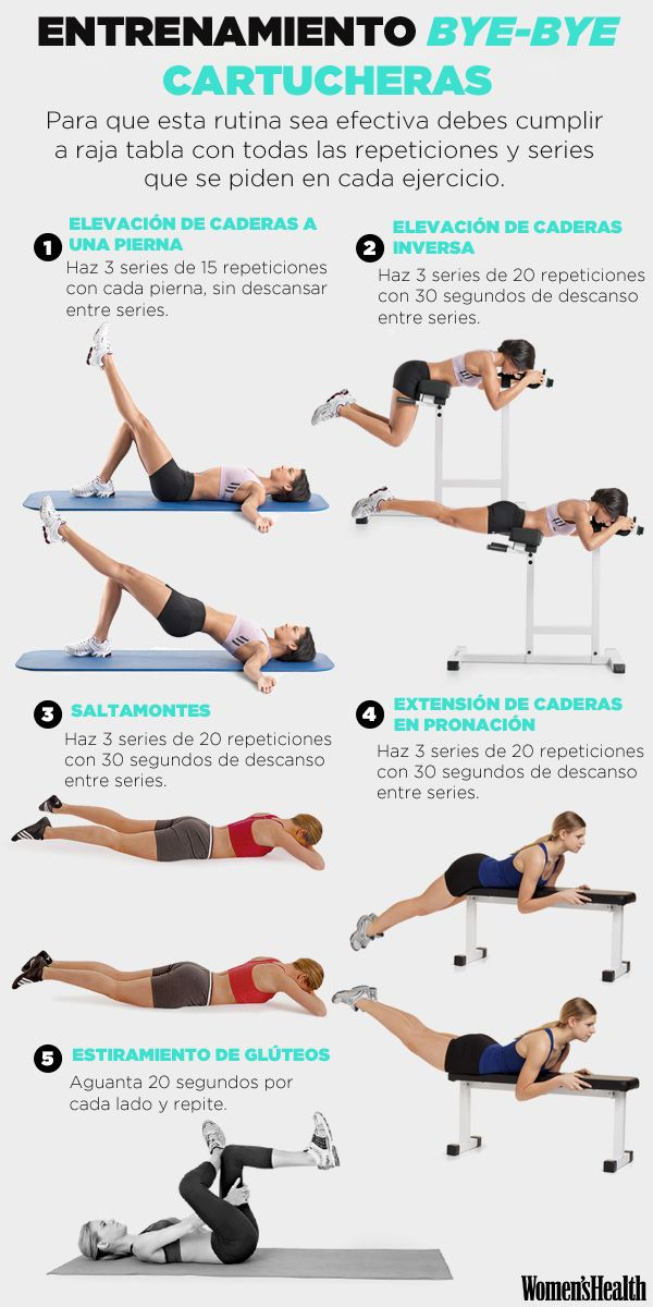El entrenamiento definitivo para despedirte de las cartucheras | Fitness | Women's Health