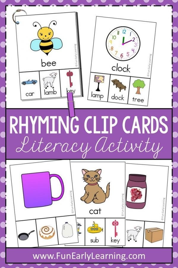 Rhyming Clip Cards Cvc Words And More For Phonemic Awareness Rhyming Activities Preschool Early Learning Activities Rhyming Activities Kindergarten rti rhyming and