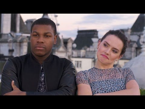 John Boyega (Finn) Beat Boxes While Daisy Ridley (Rey) Raps About Making The Force Awakens