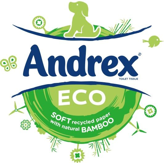 Emily. Andrex ECO is a new development containing 90% recycled fibre and 10% bamboo.