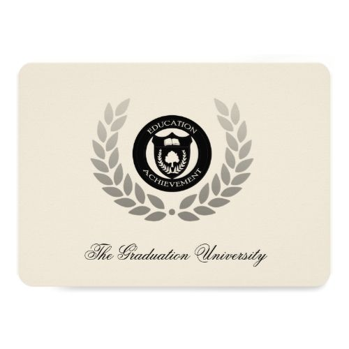laurel crest traditional college graduation card traditional