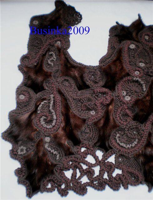 Соединение кусочков меха с вязанием - Ярмарка Мастеров - ручная работа, handmade