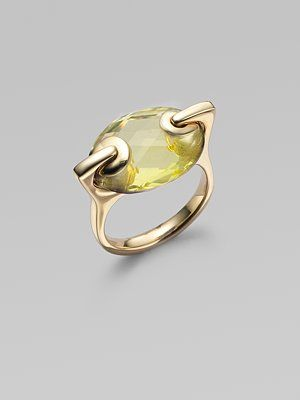 lemon quartz & 18k yellow gold ring.  I am totally obsessed with this ring. WOW.