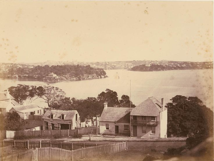 Panoramic view of Blues Point looking towards Balmain and Goat Island