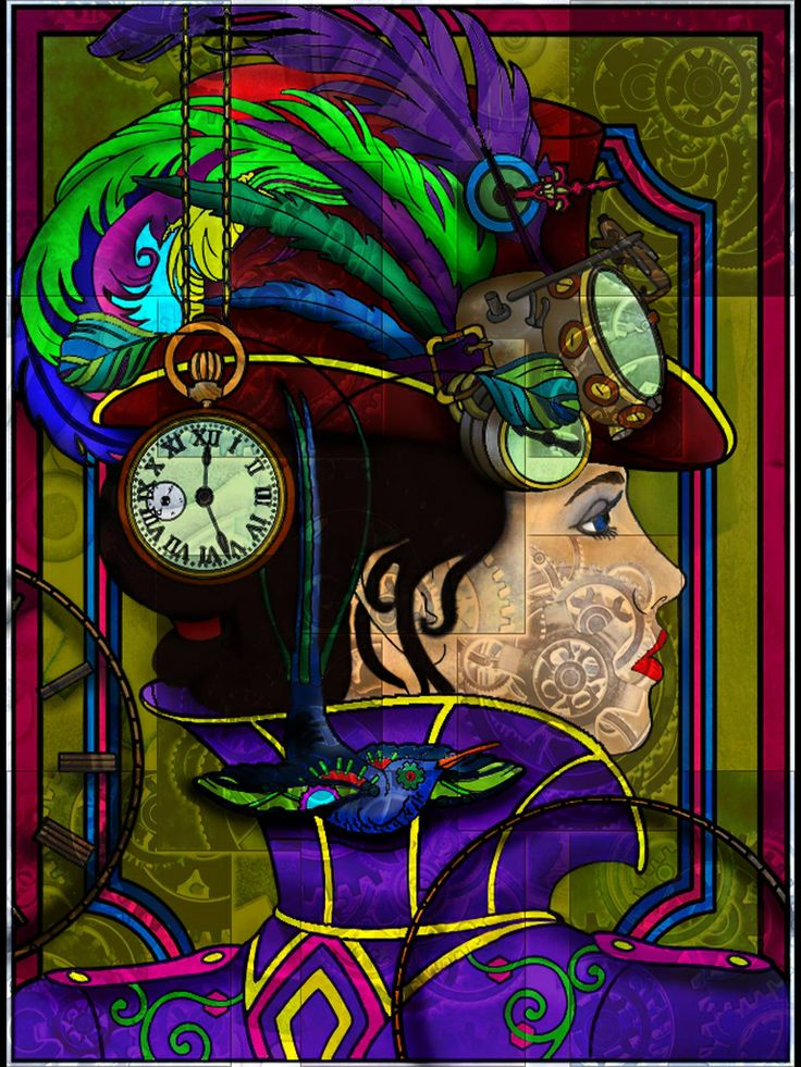 Steampunk Digital Colouring